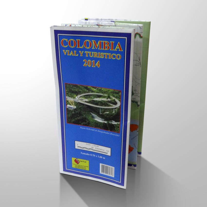 Mapa De Colombia Turístico Y Vial plegado
