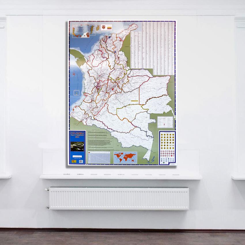 Mapa De Colombia Turístico Y Vial retablo