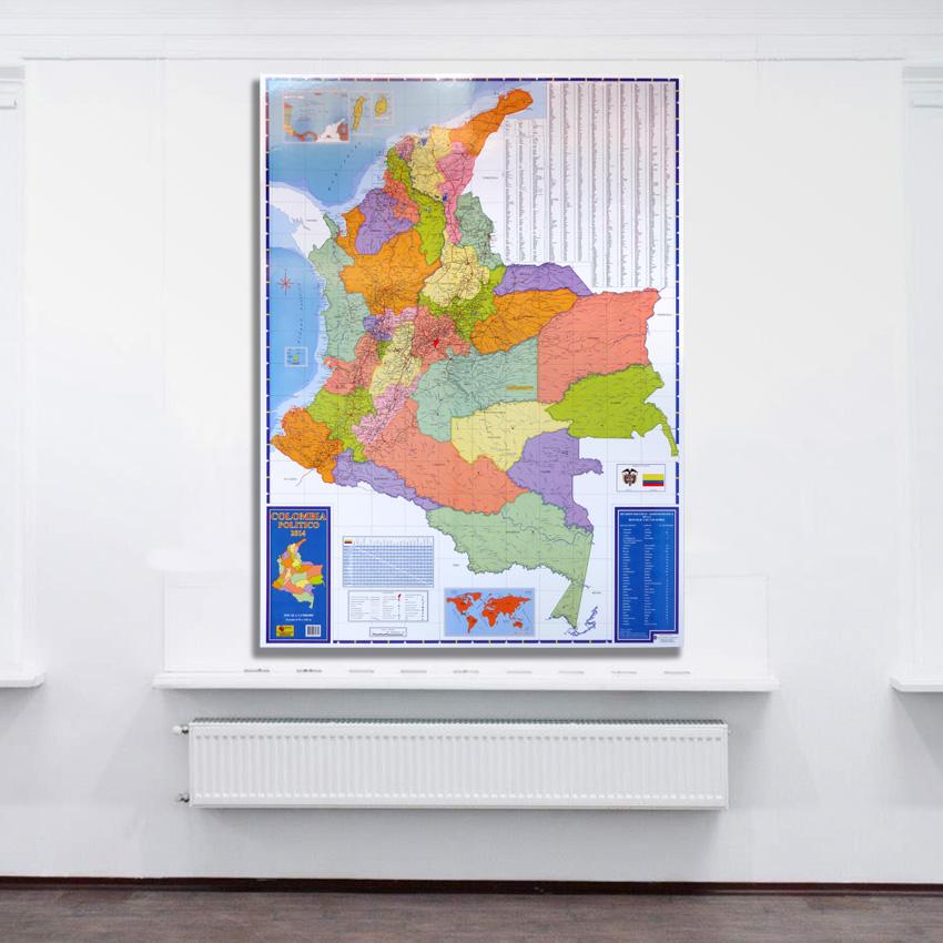 Mapa De Colombia politico retablo