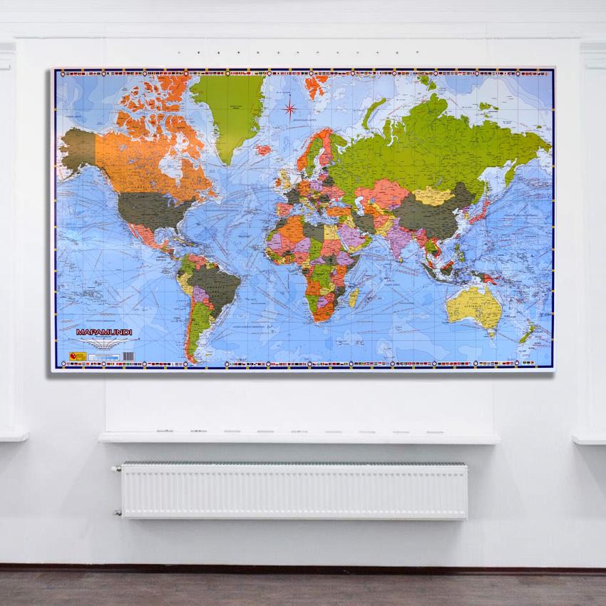 Mapamundi Político retablo