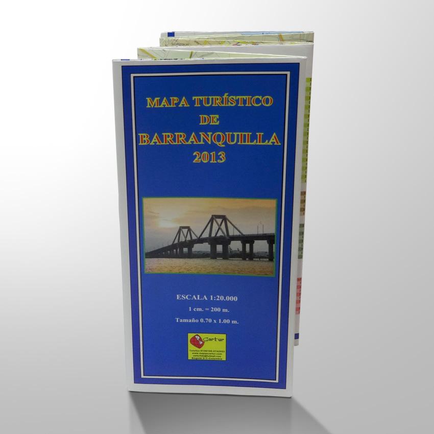 Plano De Barranquilla plegado